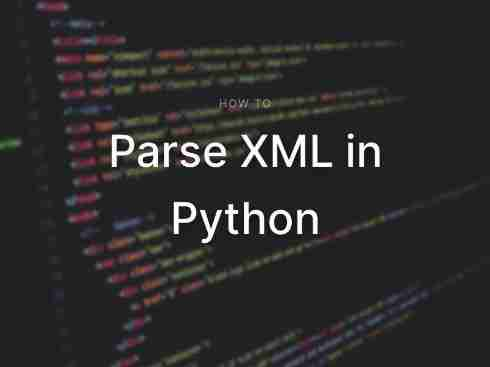 How to Parse XML in Python