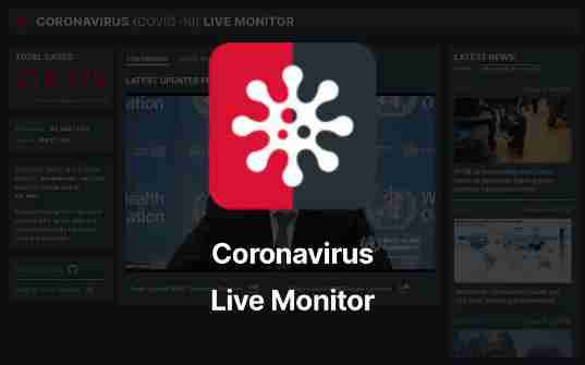 I Built Coronavirus Live Monitor - stats, news, and WHO press releases on the virus all in one place