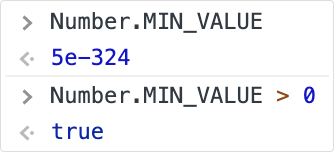 JavaScript MIN VALUE constant example